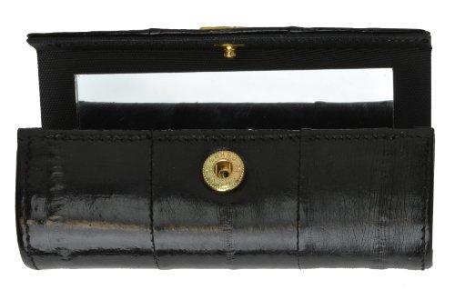 Elegant Design Eel Skin Cosmetic Case Lipstick Case (Black)