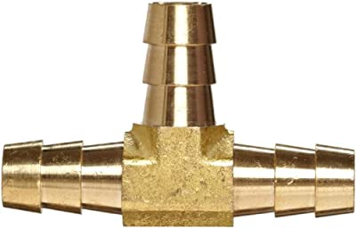 Anderson Metals Brass Hose Fitting, Tee, Barb
