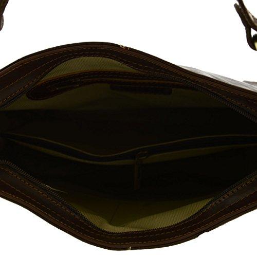 Borsa Donna A Tracolla In Pelle Colore Moro - Pelletteria Toscana Made In Italy - Borsa Donna