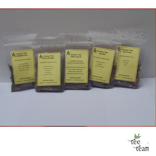 TeeTeam Grüntee - Tee Probierset Grüner Tee, Porbier Set, Probieren, 50 g