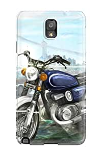 High-quality Durable Protection Case For Galaxy Note 3(original Fantastic World Anime Girls Motorcycle)