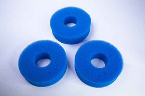 LTWHOME Compatible Foam Sponge Filter 25PPI Fits for Laguna Pressure-Flo 700 UVC Filter (Pack of 3) (Foam Flo)