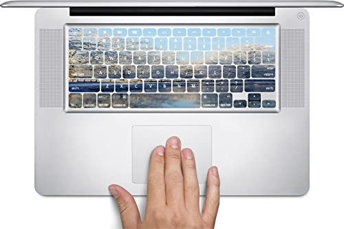Beautiful Winter Pond Art Keyboard Decals by MWCustoms for 11 inch MacBook Air
