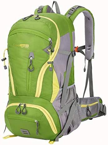 サイクリングバックパック ユニセックス防水ハイキングデイパックキャンプアウトドアバックパック用キャンプハイキング軍用旅行オートバイ45l (Color : Green, Size : 55*34*16CM)