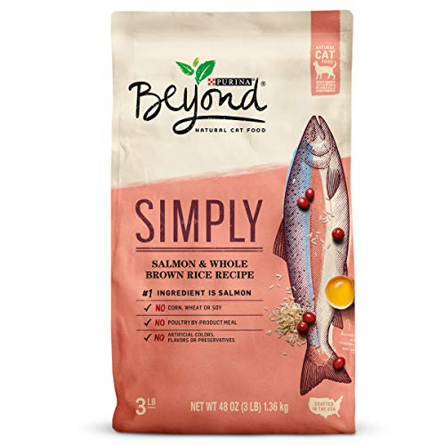 Purina Beyond Natural Limited Ingredient Dry Cat Food; Simply Salmon & Whole Brown Rice Recipe - 3 lb. Bag