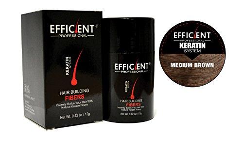 Hsr Perfect Effect - EFFICIENT Keratin Hair Building Fibers, Hair Loss Concealer, 12 g/0.42 oz., Medium Brown
