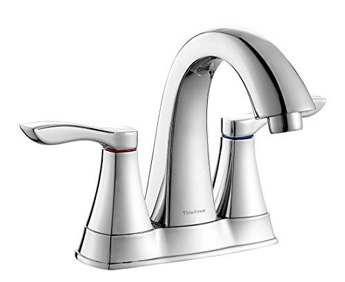 Timearrow taf288s bn two handle 8 inch widespread bathroom - 8 inch brushed nickel bathroom faucet ...