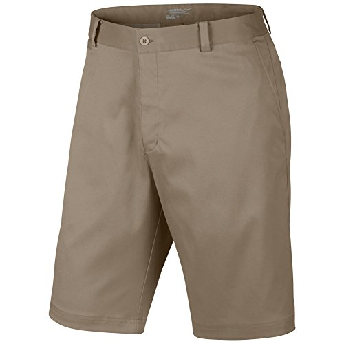 Nike Men's Flat Front Short, Khaki, 36