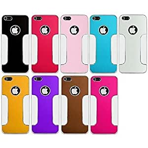 Colorful Plating Back Case for iPhone 5/5S (Assorted Color) , Red