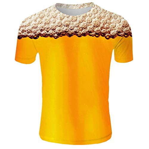 YQZB Men's T-Shirt Summer Turn Down Collar Slim Short Sleeve Stripe Patchwork Tees Business Top Blouse Yellow