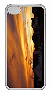 iPhone 5C Case, Personalized Custom Visconsin Sunset for iPhone 5C PC Clear Case