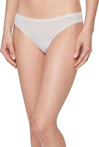 DKNY Intimates Women's Litewear Low Rise Thong White Diamond Dash Print/White Medium (Rise Low Dkny Thongs)