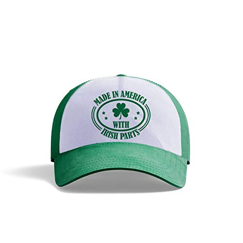 AVOIN colorlife Irish Green Shamrock Clover Leaf Baseball Fitted Cap | St Patricks Day Party Funny Saying Made in America Irish Parts Adjustable Dad-Hat Unisex