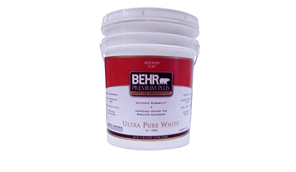 Behr Premium Plus 5 Gal Ultra Pure White Flat Zero Voc Interior Paint Amazon Com
