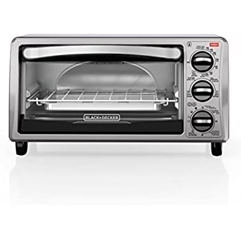 BLACK+DECKER TO1313SBD 4-Slice Toaster Oven, Black