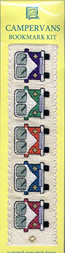 Textile Heritage Campervans Bookmark Counted Cross Stitch Kit