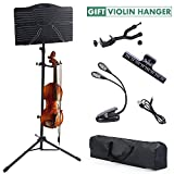 Best Book Stand & Holders - Sheet Music Stand, Klvied Portable Folding Violin Music Review