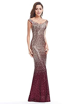 Ever Pretty Sequins Long Formal Evening Gown 08999