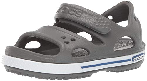Crocs Boys and Girls Crocband II Sandal | Pre School, Slate Grey/Blue Jean, 11 M US Little Kid