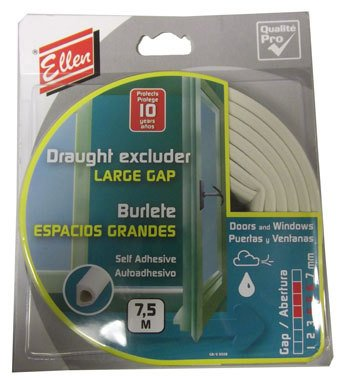Quality Ellen Draught Excluder Large Gap Self Adhesive 7.5 Metre Roll Brown