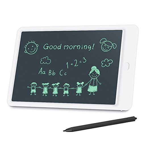 MEGACRA LCD Writing Tablet 10'' eWriter Graffiti Board for Kids Gift Paperless Portable Digital Drawing Board with Memory Lock and Stylus Durable (White)