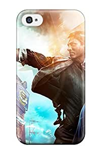 Durable Defender Case For Iphone 4/4s Tpu Cover(bioshock Infinite 2013 Game)