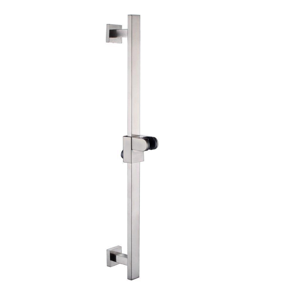2 Adjustable Slide bar Square Wall Mount KES F211 spazzolato in acciaio inossidabile SUS304