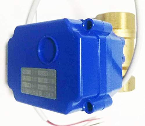 3//4Motorized Ball Valve Brass Ball Valve 9-24V AC//DC and 2 Wire NPT Thread