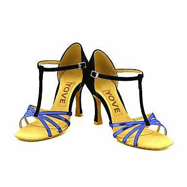 Tacón Morado Azul baile Personalizado Plata Zapatos Silver de Latino Rojo Salsa Oro Personalizables qwxCERvt