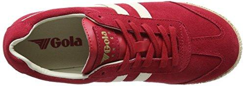 Gola Vrouwen Cla192 Kiekendief Fashion Sneaker Lolly Rood / Off-white