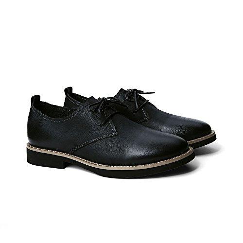 Creeker Zapatos de Cordones Derby Mocasines para Mujer Negro