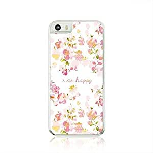 DD Pink Floral Leather Vein Pattern PC Hard Case for iPhone 5/5S