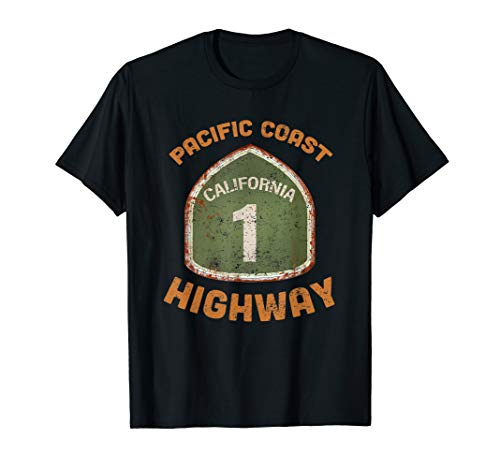California State Route One T-shirts and Souvenirs T-Shirt (Best Stops Along The Pacific Coast Highway)