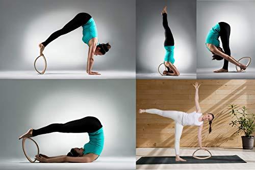 7 Chakras 5 Piece Yoga Wheel Set   Yoga Stretch Out Strap w/Loops   2 x  Cotton Travel Bags   Yoga Gift Box Set   55 Page PDF Exercise Guide