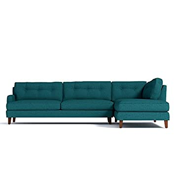 Phenomenal Amazon Com Virgil 2 Piece Sectional Chicago Blue Laf Unemploymentrelief Wooden Chair Designs For Living Room Unemploymentrelieforg