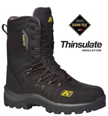 Klim Adrenaline GTX Snowmobile Boots, Black Size 11