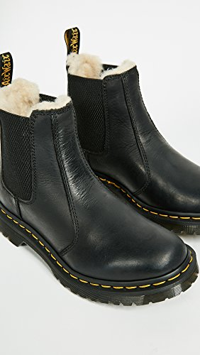 Burnished Fashion Martens Dr Boot Leather Leonore Black Wyoming v4Ex4n