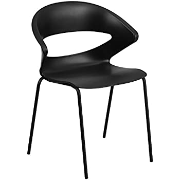 Flash Furniture HERCULES Series 440 lb. Capacity Black Stack Chair