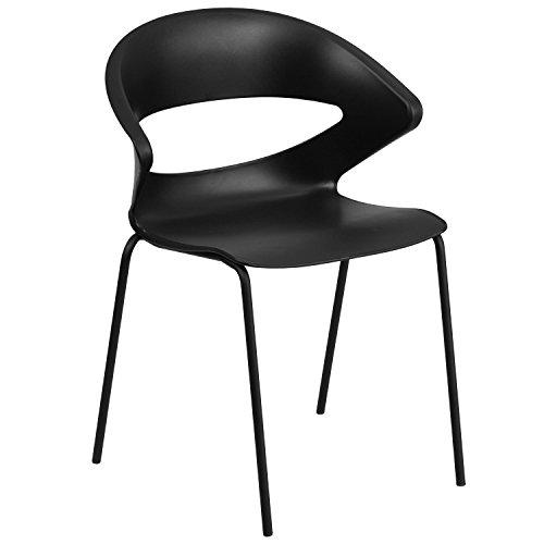 - Flash Furniture HERCULES Series 440 lb. Capacity Black Stack Chair