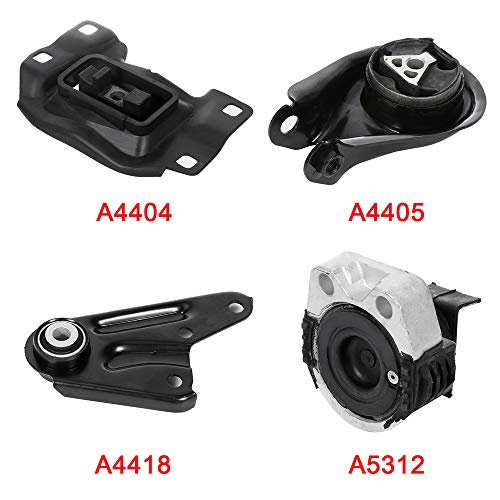 OCPTY Engine Motor and Trans Mounts A5312 A4405 A4418 A4404 4PCS Set Compatible with Mazda 3 2004-2009 2.0L 2.3L w/o Turbo Mazda 5 2006-2010 2.3L (Mazda 2 Turbo)