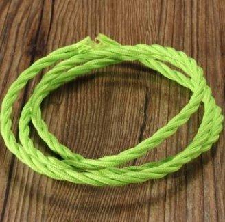 MASUNN 1M Vintage Farbig Diy Twist Geflochtenen Stoff Flex Kabel ...