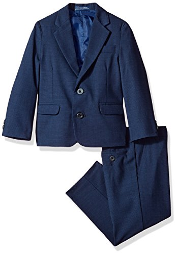 IZOD Boys' Toddler Two Piece Bi-Stretch Suit, Dark Blue ()
