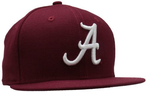 New Era College Baseball Hats - NCAA Alabama Crimson Tide College 59Fifty, Crimson , 7  3/8