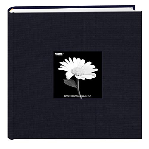 Le Memo Album - Fabric Frame Cover Photo Album 200 Pockets Hold 4x6 Photos, Royal Navy