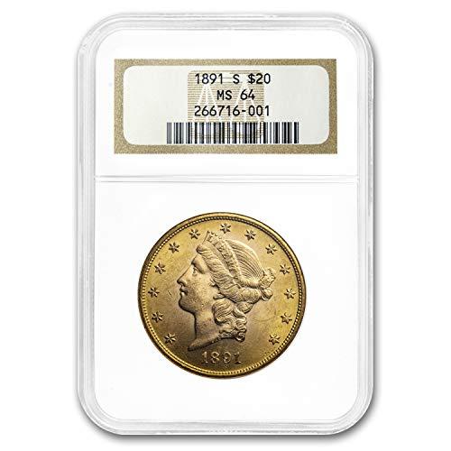 1891 S $20 Liberty Gold Double Eagle MS-64 NGC G$20 MS-64 NGC