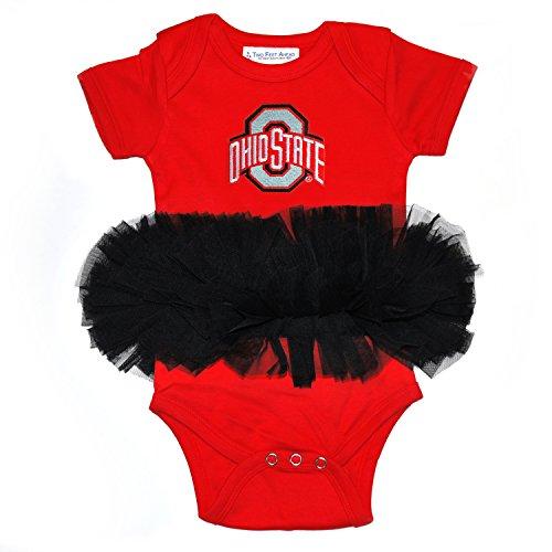Two Feet Ahead NCAA Ohio State Buckeyes Infant Tutu Creeper, 12 Months, Red/Black