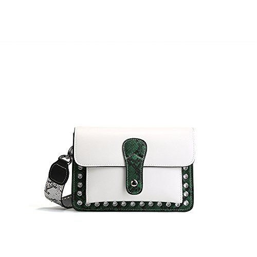 Simple White Bag Square Small Buckle Tote Messenger Magnetic Lady Bag Yamyannie Shoulder Retro Winter Summer 7qwtREC