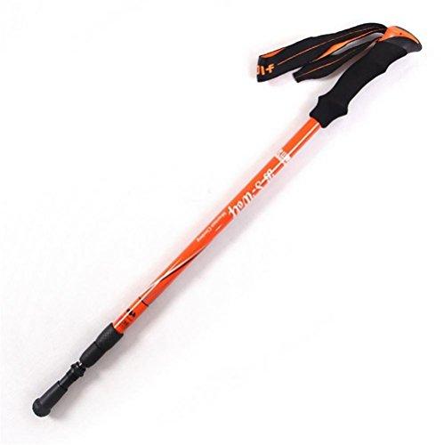 - DSFGHE Alpenstock Carbon Ultra - Light Folding Telescopic Three Straight Handle Cane Walking Stick 1 Piece