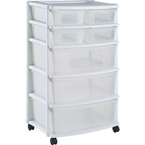 Hsb Bundle  Drawer Plastic Wide Storage Chest White With Microfibre Hsb Cleaning Glove Amazon Co Uk Kitchen Home