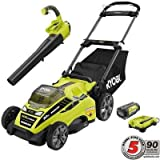 20 in. 40-Volt Lithium-Ion Cordless Lawn Mower with Jet Fan...
